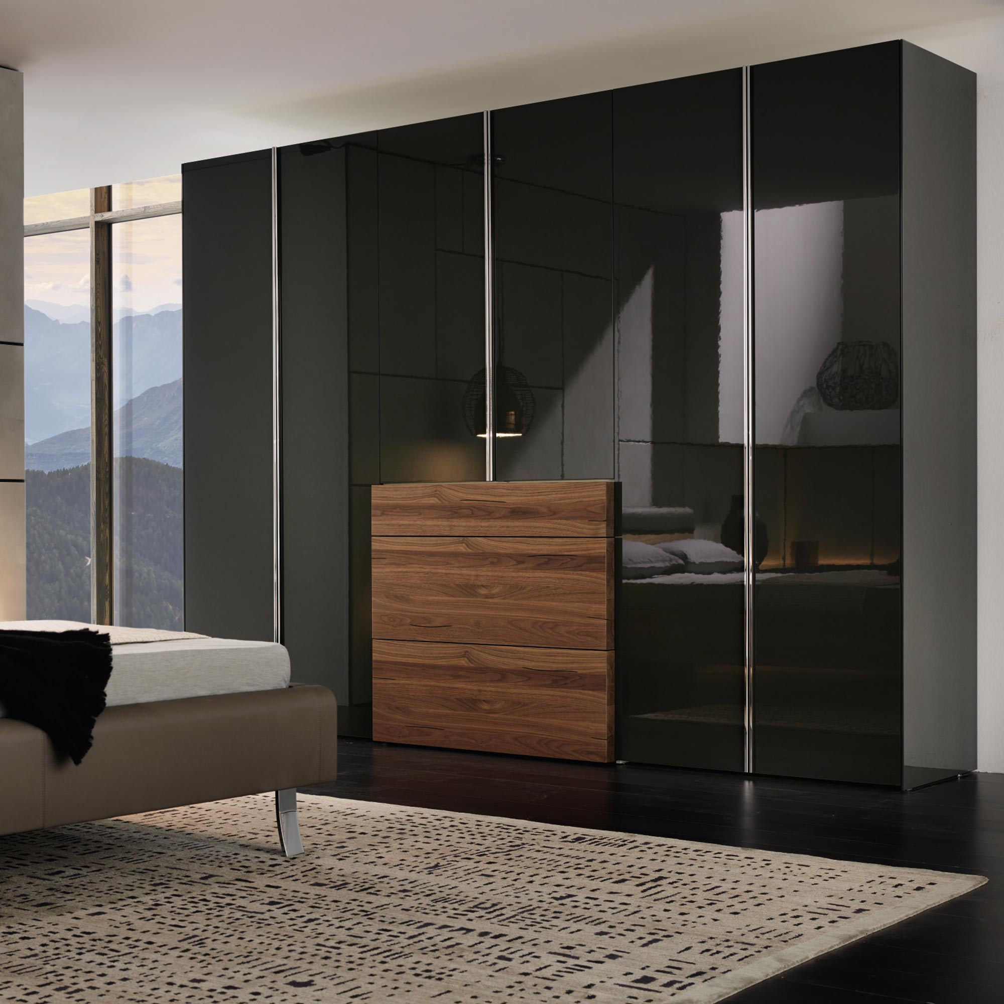 gentis schrank in lackschwarz von h lsta m bel b r ag. Black Bedroom Furniture Sets. Home Design Ideas
