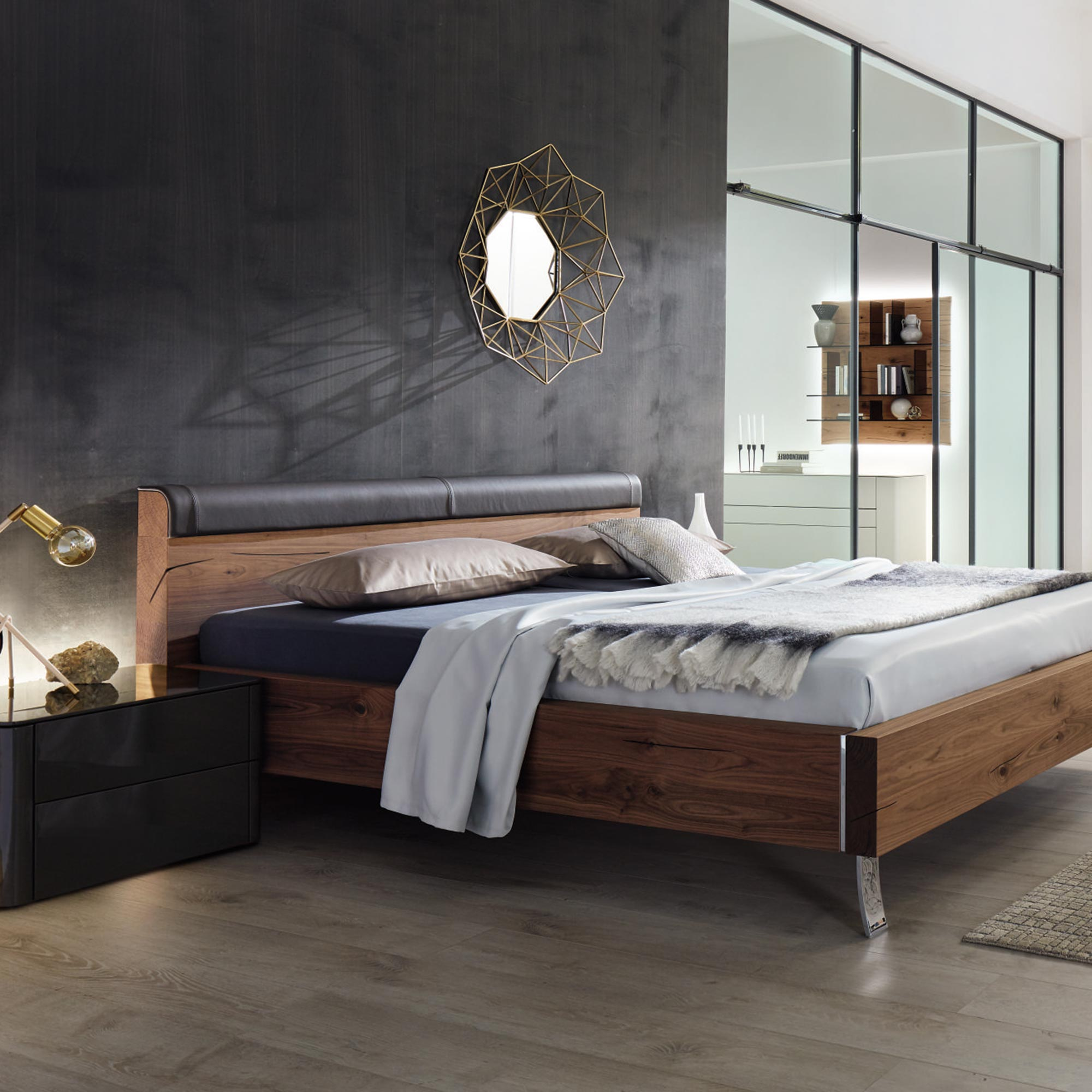 h lsta gentis schlafzimmer nussbaum schwarz m bel b r ag. Black Bedroom Furniture Sets. Home Design Ideas