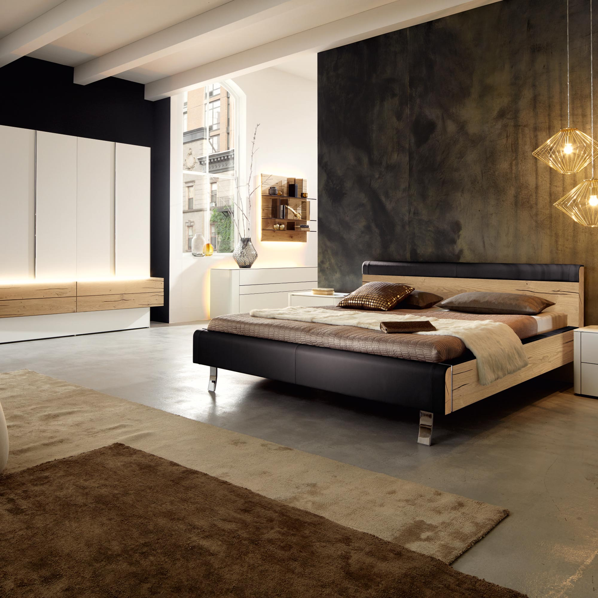 h lsta gentis schlafzimmer eiche m bel b r ag. Black Bedroom Furniture Sets. Home Design Ideas