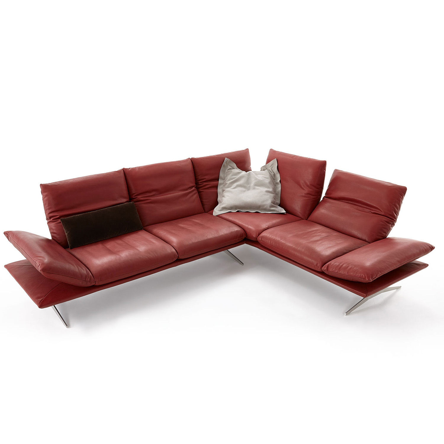 ledersofa rot excellent with ledersofa rot massivum sofa leeds sitzer rot echtleder with. Black Bedroom Furniture Sets. Home Design Ideas