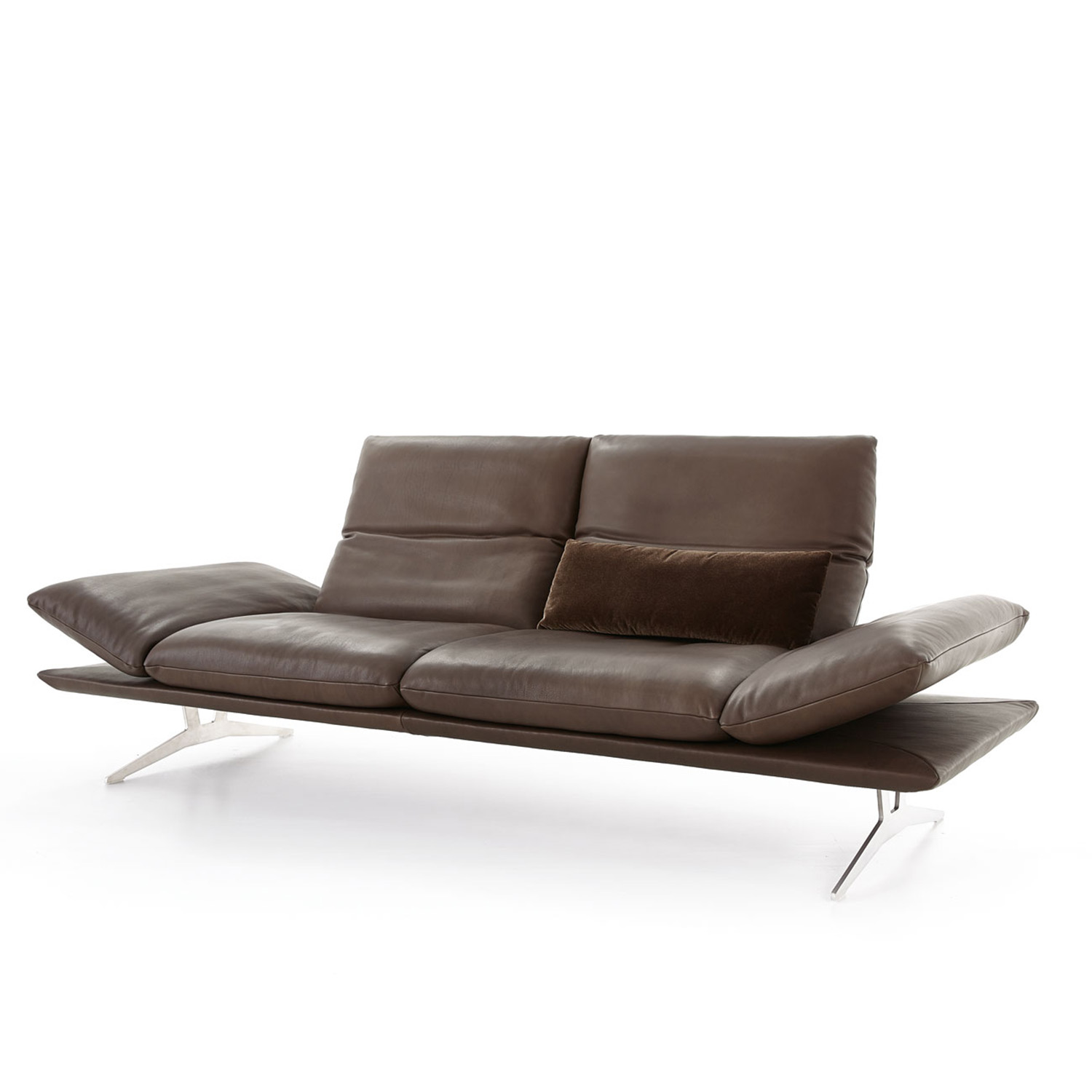 Koinor sofa francis in braun leder m bel b r ag for Sofa koinor