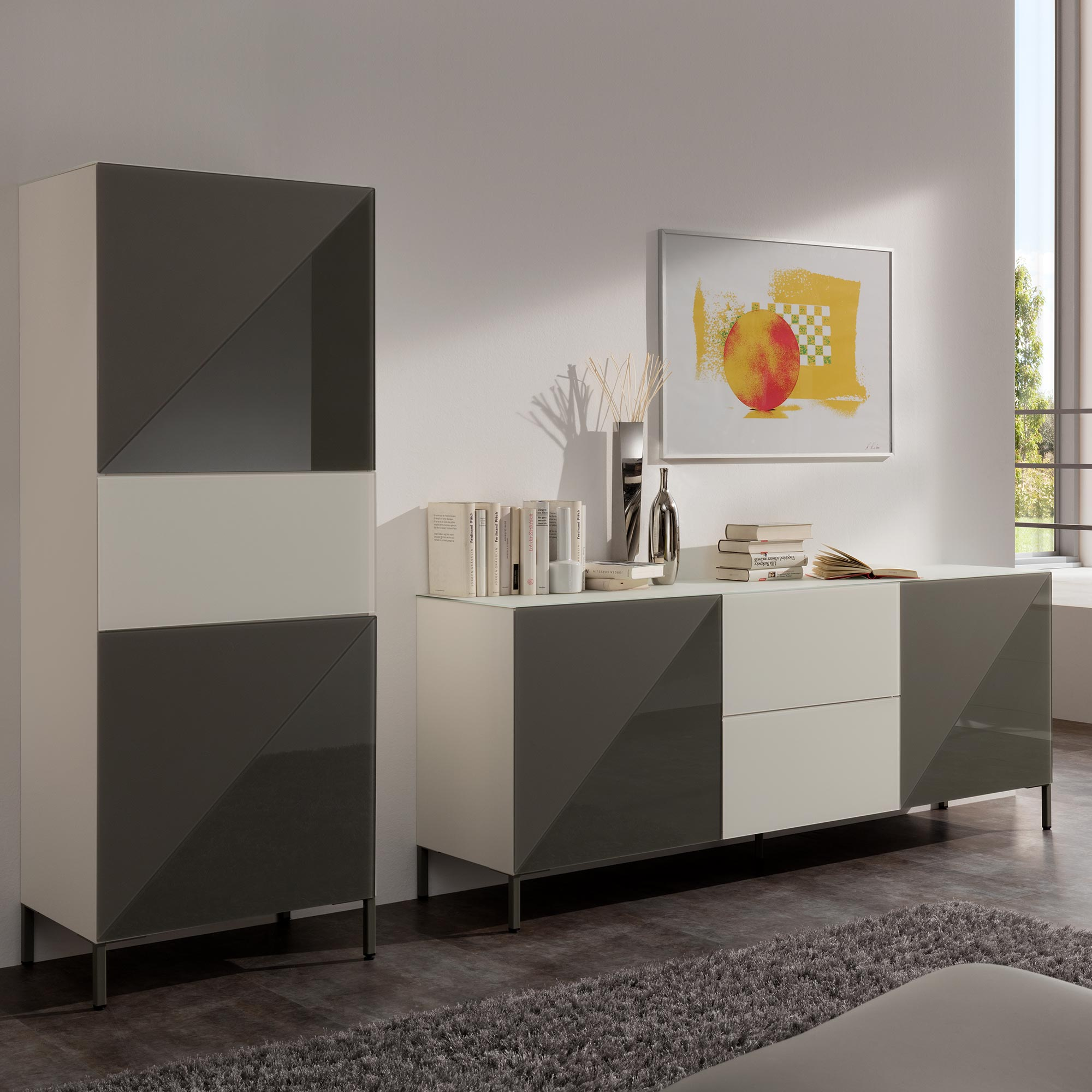 sideboard anthrazit cool with sideboard anthrazit stunning awesome highboard grau hochglanz. Black Bedroom Furniture Sets. Home Design Ideas