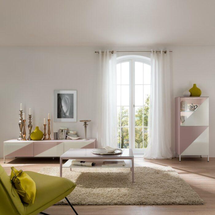 Ayla Wohnkombination rosa/weiss von MAB