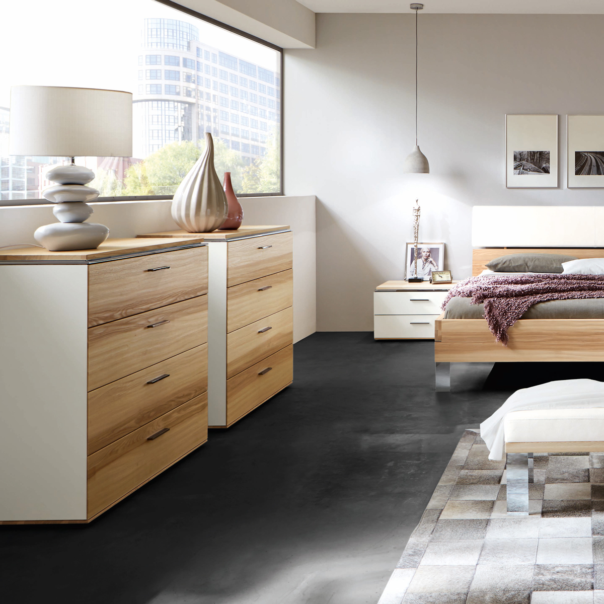 thielemeyer schlafzimmer loft esche m bel b r ag. Black Bedroom Furniture Sets. Home Design Ideas