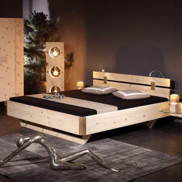 Sprenger Bett aus Arve/Zirbe