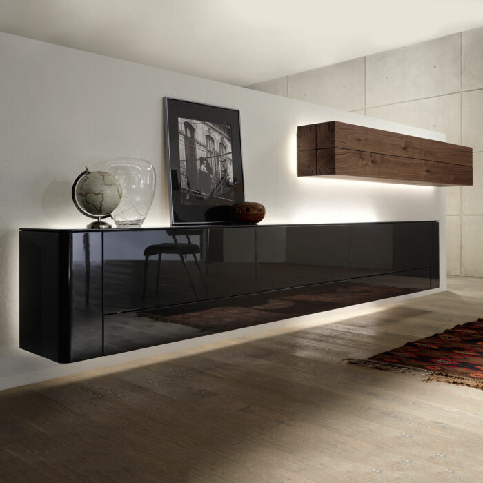 h lsta gentis wohnwand dunkel m bel b r ag. Black Bedroom Furniture Sets. Home Design Ideas