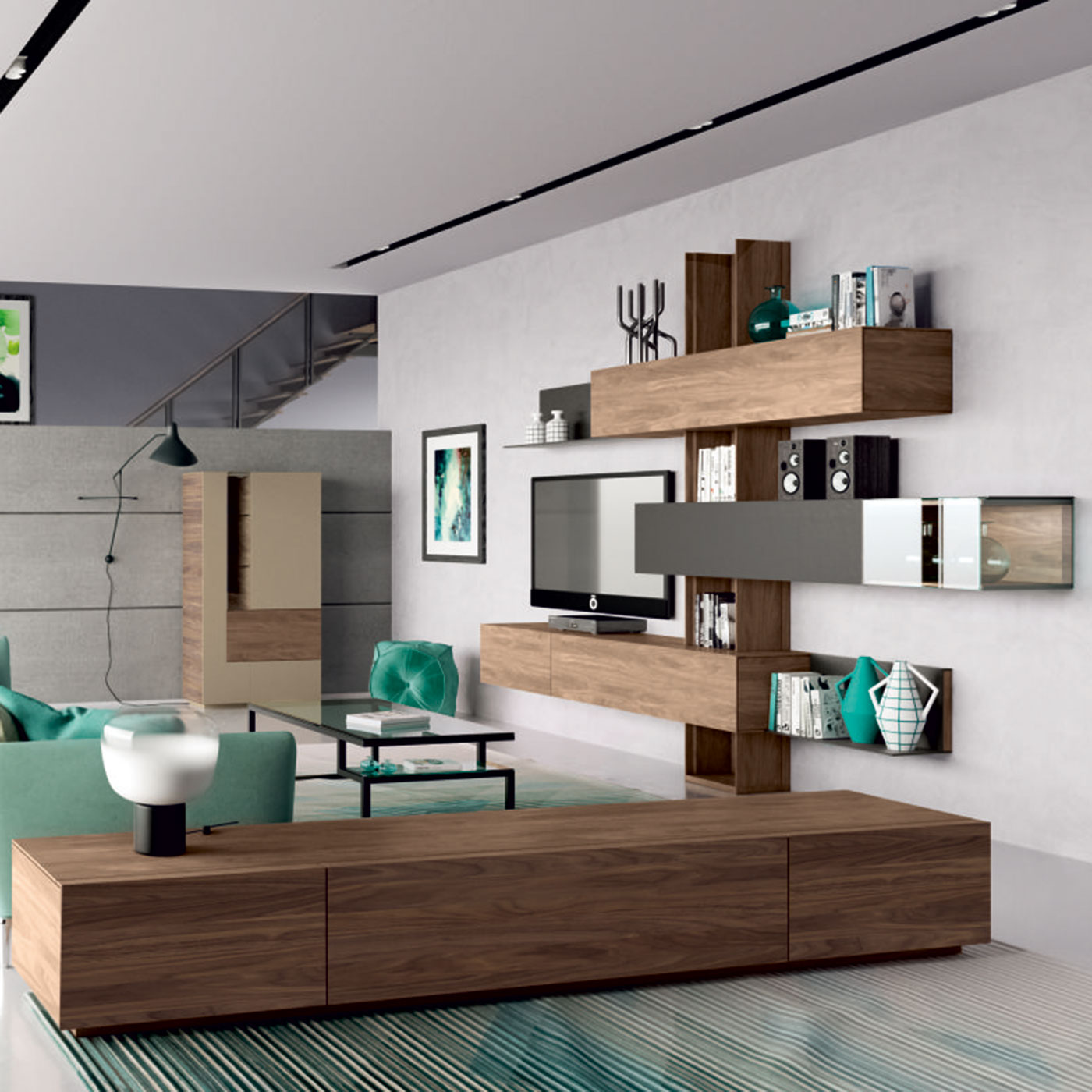 h lsta madera wohnkombination m bel b r ag. Black Bedroom Furniture Sets. Home Design Ideas